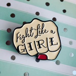 Fight Like A Girl Enamel Pin / Feminist
